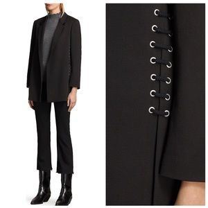 Allsaints Alexia laced blazer 10 black open front